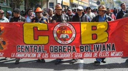 Bolivia: la COB convoca a paro nacional con movilización este 12 de julio
