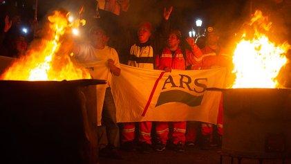 """[VIDEO] Los mineros de Río Turbio hicieron un """"carbonazo"""" contra el Presupuesto 2019"""