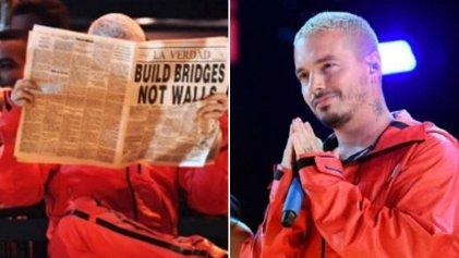 """""""Puentes, no muros"""": el mensaje de J Balvin a Trump durante los Grammy"""