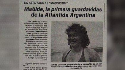 La historia de una pionera: Matilde Ontiveros, primera guardavidas de Argentina