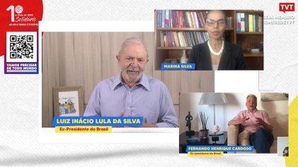Lula compartió escenario con golpistas en el acto virtual de la burocracia sindical