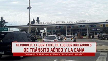 Controladores de Tránsito Aéreo sacaron su reclamo a las calles