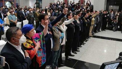 Arce posesiona un gabinete ministerial plagado de tecnócratas y pragmáticos
