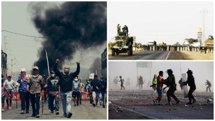Rechazamos la represión policial y militar y nos solidarizamos con la lucha de los trabajadores agrarios