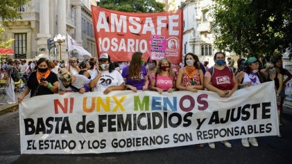 [Fotogalería] Multitudinaria marcha del 8M en Rosario por #NiUnaMenos
