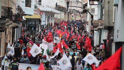 Jornada de movilizaciones en Ecuador contra el aumento de los combustibles