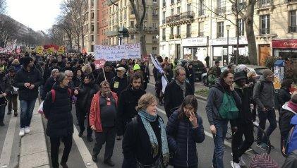 Nueva jornada de protesta en Francia contra la reforma jubilatoria