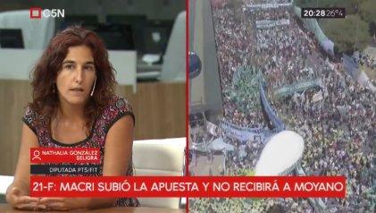 """González Seligra: """"El macrismo le tiene miedo a la movilización, como se demostró en diciembre"""""""