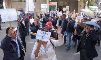 Gran marcha de la Universidad de El Alto llega hoy a La Paz