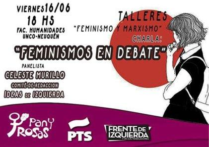 """Charla en Neuquén: """"Feminismos en debate"""""""