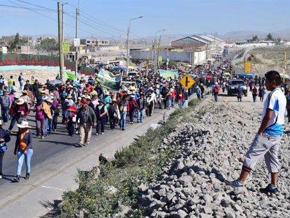 Paro contra proyecto minero en Perú