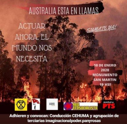 Convocan a acción por Australia en Neuquén