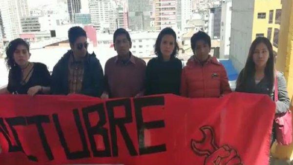 Desde Bolivia estudiantes de OCTUBRE se solidarizan con la lucha del movimiento estudiantil en México
