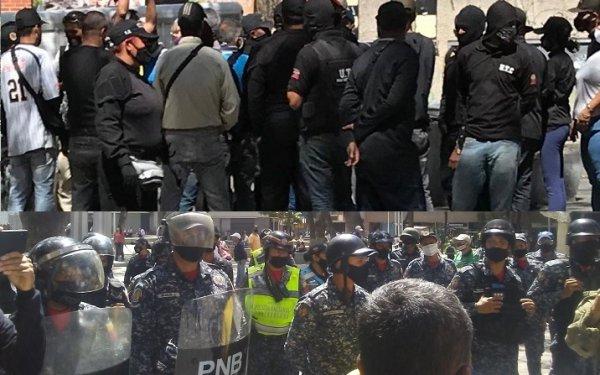 Amedrentan a manifestantes en Venezuela con grupos parapoliciales